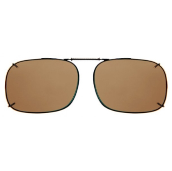 Haven Clip Sqr 2 Bronze Frame Amber Lens Sunglasses