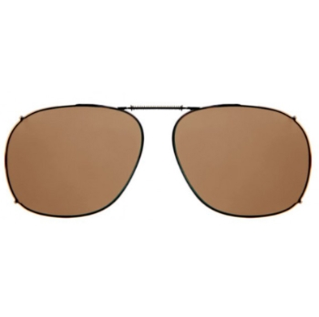 Haven Clip Sqr 3 Bronze Frame Amber Lens Sunglasses
