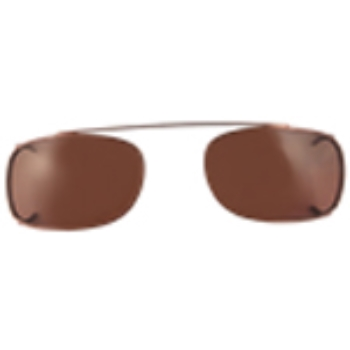 Hilco Traditional Rectangle Sunclip - Bronze II Sunglasses