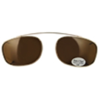 Hilco Traditional Rectangle Sunclip - Gold Sunglasses
