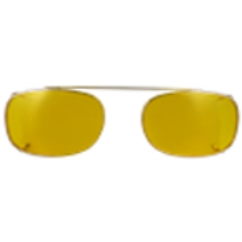 Hilco Traditional Rectangle Sunclip - Gold II Sunglasses