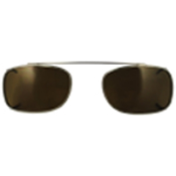 Hilco Traditional Rectangle Sunclip - Pewter Sunglasses