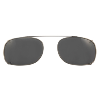 Hilco Traditional Rectangle Sunclip - Pewter II Sunglasses