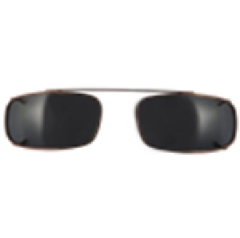 Hilco Traditional Low Rectangle Sunclip - Bronze Sunglasses
