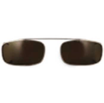 Hilco Traditional Low Rectangle Sunclip - Gold Sunglasses