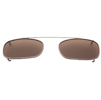 Hilco Traditional Low Rectangle Sunclip - Pewter Sunglasses