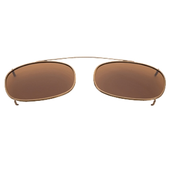 Hilco Traditional Oblong Sunclip - Antique Gold Sunglasses