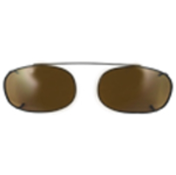 Hilco Traditional Oblong Sunclip - Black Sunglasses