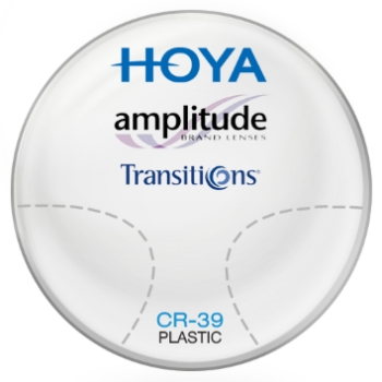 Hoya Hoya Amplitude Transitions® SIGNATURE VII - [Gray]  Plastic CR-39 Lenses