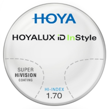 Hoya Hoyalux iD InStyle Hi-Index 1.70 With Super HiVision AR Lenses