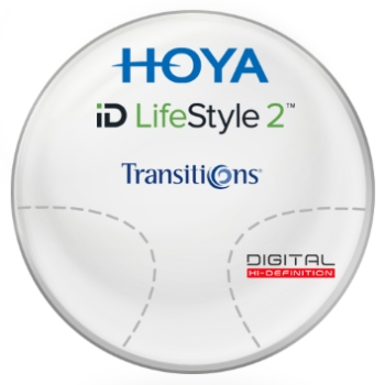 Hoya Hoyalux iD Harmony Transitions® SIGNATURE VII - [Gray or Brown] Plastic CR-39 Progressive Lenses