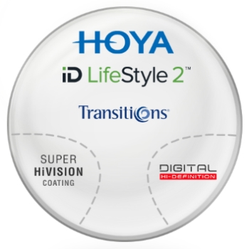 Hoya Hoyalux iD Harmony Transitions® SIGNATURE VII - [Gray or Brown] Hi-Index 1.67 Progressive W/ Hoya Super Hi Vision AR Lenses