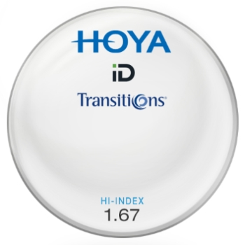 Hoya® ID Hi-Index Plastic 1.67 Aspheric Transitions ® SIGNATURE VII [Gray or Brown] Lenses