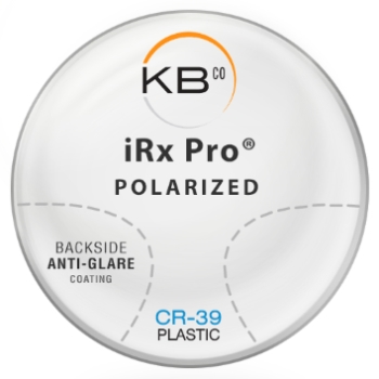 KBco iRx Pro® Polarized W/Back side AR coating Plastic CR-39 Color Ruby Progressive Lenses