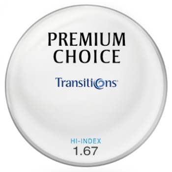 Premium Choice Transitions® SIGNATURE VII - [Brown] Hi-Index 1.67 Plastic Lenses