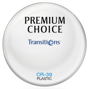 Premium Choice Transitions® SIGNATURE 8 - Style Colors - Plastic CR-39 Plano Lenses