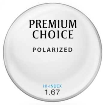 Premium Choice Polarized [Gray] Hi-Index 1.67 Lenses
