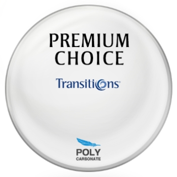 Premium Choice Transitions® SIGNATURE 8 - Polycarbonate Plano Lenses