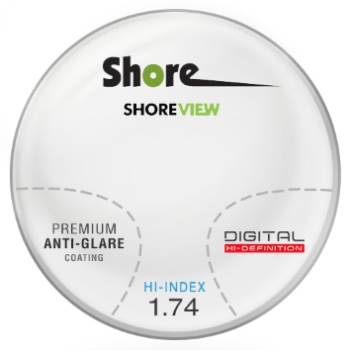 Shore View Digital High Index 1.74 Ultra Thin with premium AR Progressive  Lenses