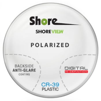 Shore Lens Shore View Digital polarized (Grey or Brown) CR-39 Plastic Progressive W/ Back Side AR Coating Lenses