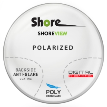 Shore Lens Shore View Digital Polarized (Grey or Brown) Polycarbonate Progressive W/ Back Side AR Coating Lenses