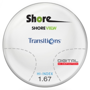 Shore View Digital Transitions® SIGNATURE 8 [Grey or Brown] High Index 1.67 Progressive Lenses