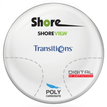 Shore View Digital Transitions® SIGNATURE VII [Grey or Brown] Polycarbonate Progressive Lenses