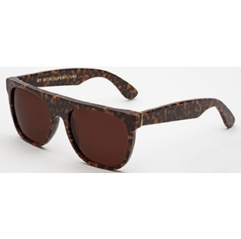 Super Flat Top IQJL 8JO Havana Materica Large Sunglasses