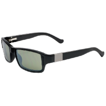 Switch Bespoke Shiny Black / True Color Green Reflection Silver Polarized Glare Kit Sunglasses
