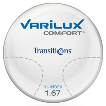 Varilux Varilux Comfort Transitions® SIGNATURE VII - [Gray or Brown]  Hi-Index 1.67 Progressive Lenses