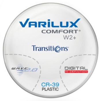Varilux Varilux Comfort W2+ Transitions® Signature 8™ (Gray, Brown) Plastic CR-39 Progressive Lenses