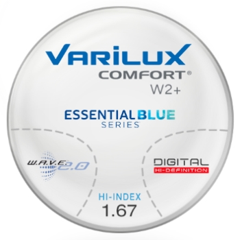 Varilux Varilux Comfort W2+ Essential Blue Series Hi-Index 1.67 Progressive Lenses