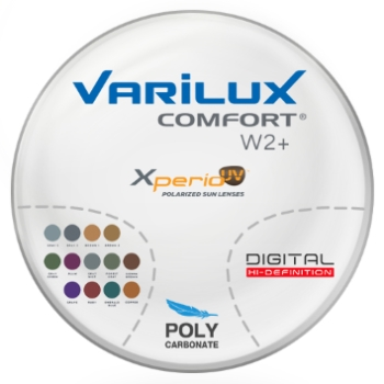 Varilux Varilux Comfort W2+ Polarized [Grey or Brown] Polycarbonate Progressive Lenses