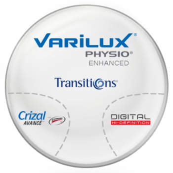 Varilux Varilux Physio Enhanced Transitions® SIGNATURE 8 [Gray, Brown or Green] Polycarbonate Progressive W/ Crizal Avancé AR Lenses