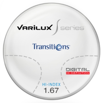 Varilux Varilux S Design Transitions® SIGNATURE 8 [Grey or Brown] Hi-Index 1.67 Progressive Lenses