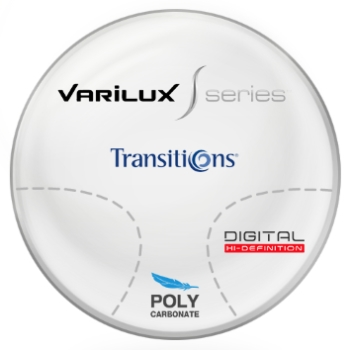 Varilux Varilux S Design Transitions® SIGNATURE 8 [Grey, Brown or Green] Polycarbonate Progressive Lenses