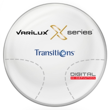 Varilux Varilux X Series™ Transitions® SIGNATURE 8 - [Gray or Brown] Basic Plastic CR-39 Progressive Lenses
