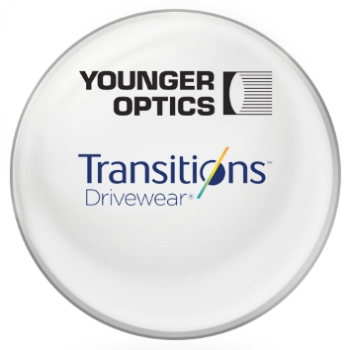 Younger Optics Transitions DriveWear® by Younger Optics - Polarized Photochromic - Plastic CR-39 Plano Lenses