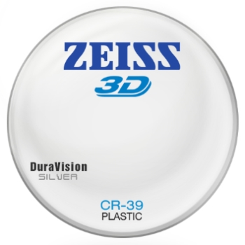 Zeiss Zeiss® 3D Plastic CR-39 W/ Zeiss DuraVision Silver AR Lenses