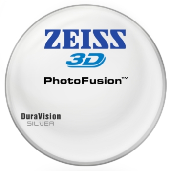 Zeiss Zeiss® 3D PhotoFusion® [Gray or Brown] Hi-Index 1.67 W/ Zeiss DuraVision Silver AR Lenses