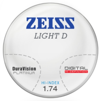 Zeiss Zeiss Light D Digital - 1.74 Hi-Index Progressive Lenses