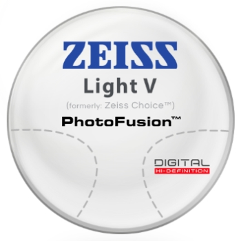 Zeiss Zeiss® Light V (Choice™) - PhotoFusion® - Hi-Index 1.67 Progressive Lenses