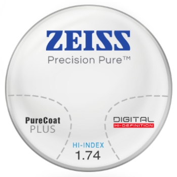Zeiss Zeiss® Precision Pure™ Hi-Index 1.74 Progressive W/ Zeiss Purecoat Plus AR Lenses