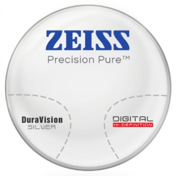 Zeiss Zeiss® Precision Pure™ Hi-Index 1.60 Progressive W/ Zeiss DuraVision Silver AR Lenses