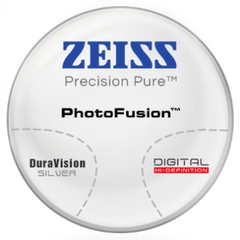 Zeiss Zeiss® Precision Pure™ PhotoFusion® [Gray or Brown]  Hi-Index 1.67 Progressive W/ Zeiss DuraVision Silver AR Lenses