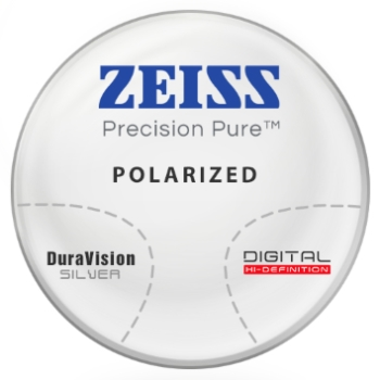 Zeiss Zeiss® Precision Pure™ Polycarbonate Polarized [Gray or Brown] Progressive  W/ Zeiss DuraVision Silver AR Lenses