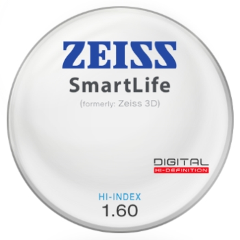 Zeiss Zeiss® SmartLife (3D) Hi-Index 1.60 Lenses