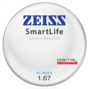 Zeiss Zeiss® SmartLife (3D) Hi-Index 1.67 Lenses