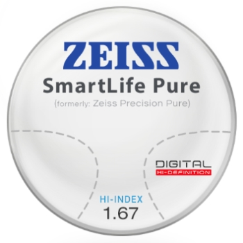 Zeiss Zeiss® SmartLife Pure (Precision Pure™) Hi-Index 1.67 Progressive Lenses