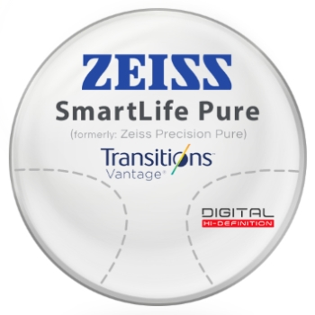 Zeiss Zeiss® SmartLife Pure (Precision Pure™) Transitions® Vantage™ Polarizing Gray - Polycarbonate Progressive Lenses